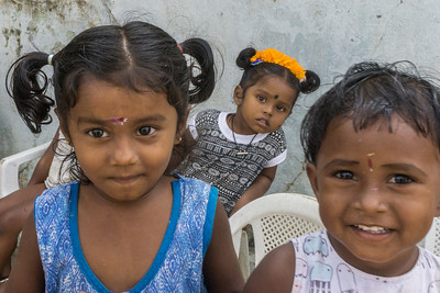 Young children (too young for the school) at the day care center in the village