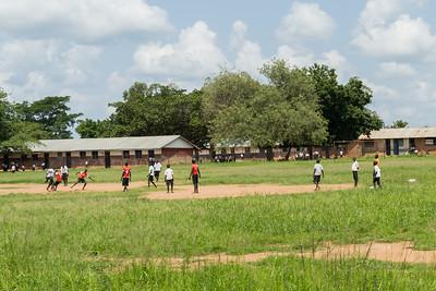 School yard soccer