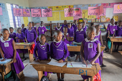 Older primary students at the Nyaka School