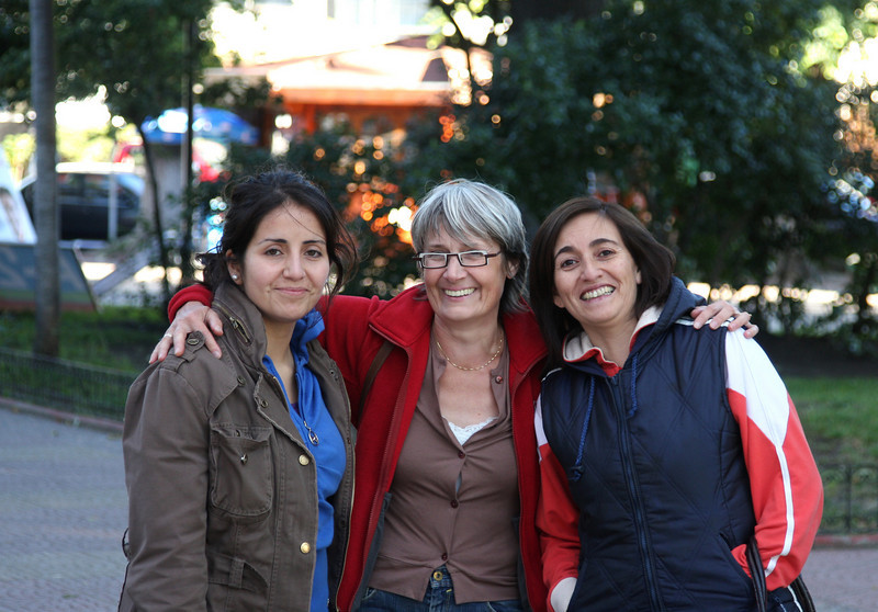 Margarita, Clara and Jeanette in Constitucion