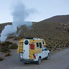 We rented a camper to travel around the north and stayed overnight at the entrance of the El Tatio geyser park - quite an experience to sleep at this altitude...