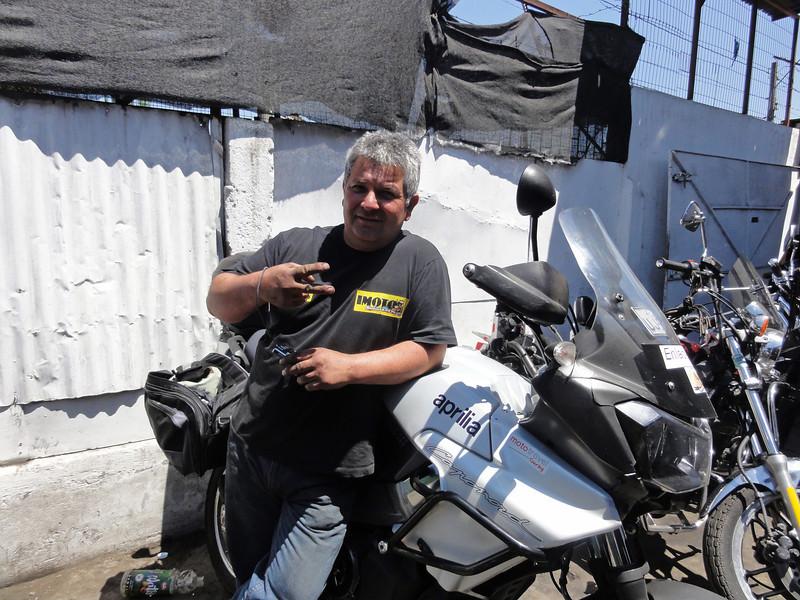 Reuben. Mechanic who let me use his workshop in Santiago