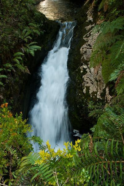 Lower falls of Sendero Laguna Tornador. Pumalín  Park