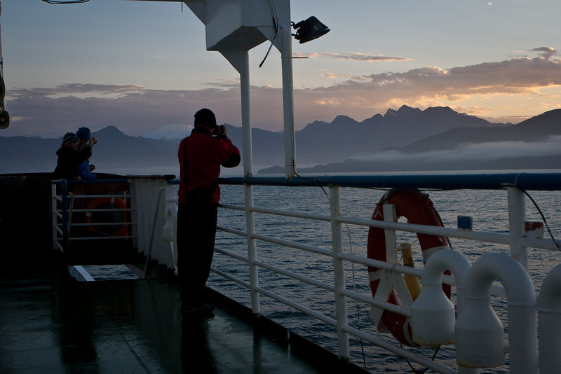 Approaching mainland Patagonia, New Year's Day, 2011.