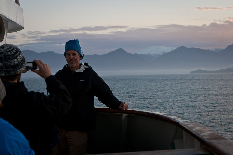 Steve from San Francisco. Approaching mainland Patagonia, New Year's Day, 2011.