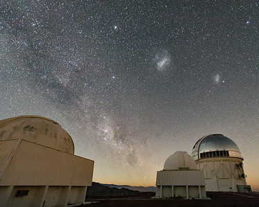 Telescope Domes, Milky Way, LMC, SMC, & So Much More