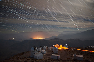Star Trails Over Elqui Valley and CTIO