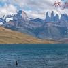 Torres del Paine from Laguna Azul