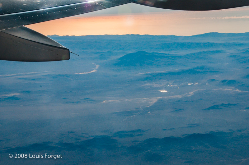 Nearing cruising altitude