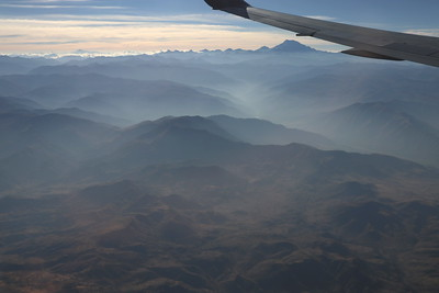 Our first look at the Andes is from the air.