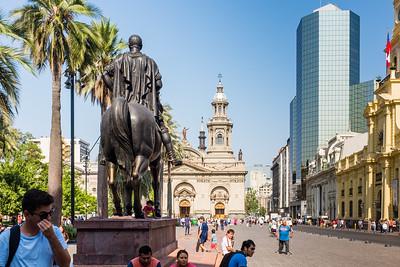 Plaza de Armas, Catedral de Santiago