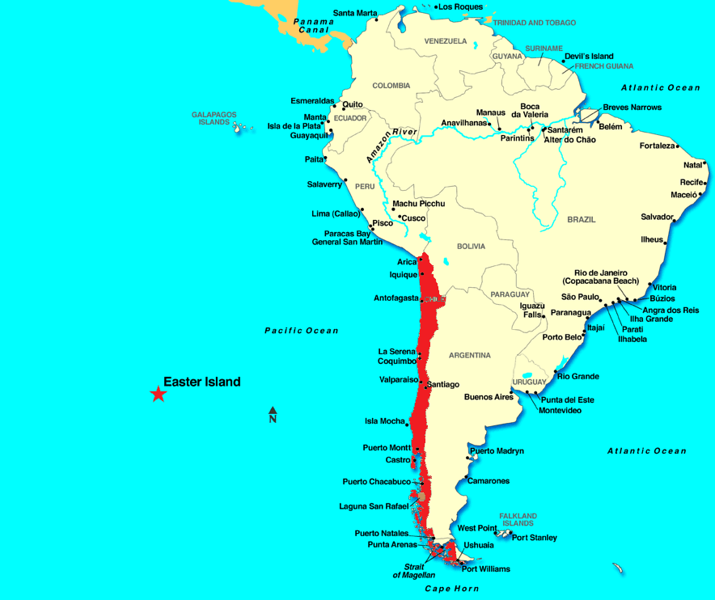 Chile.    Easter Island is part of Chile.