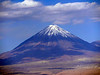 Road Scholar trip to Chile, March 2018.  Includes Atacama Desert and Easter Island.  Licancabur Volcano in the Atacama Desert.