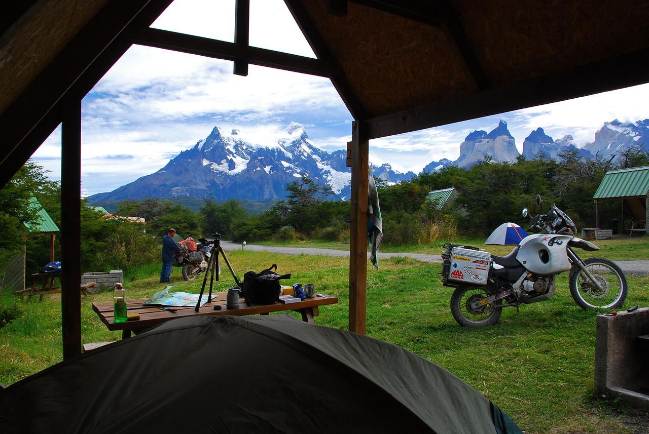 Lago Pehoe campsite,  Torres del Paine NP