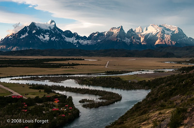 Cordillera del Paine and Serrano River