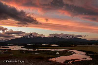 Cordillera del Paine and Serrano River