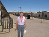 Susan in the abandoned mining town of Humberton, a center of the labor movement in Chile.
