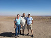 Driving to San Pedro de Atacama in the driest desert in the world, with our local guide Oscar.