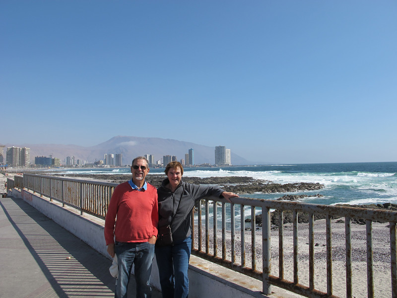 Dick and Susan on arrival in Iquique in the north of Chile.