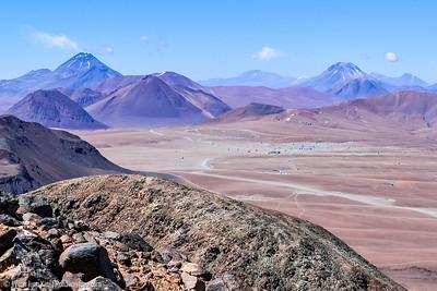 View of ALMA from Cerro  Toco