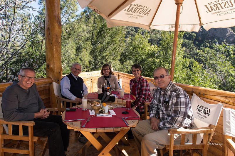 Lunch at Rio Colorado in Cajon de Maipo