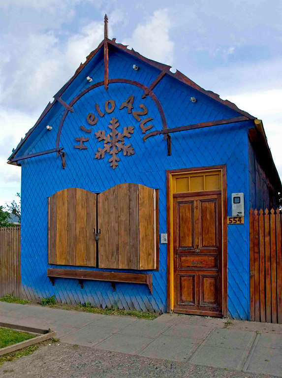 Blue Ice House in Punta Arenas.