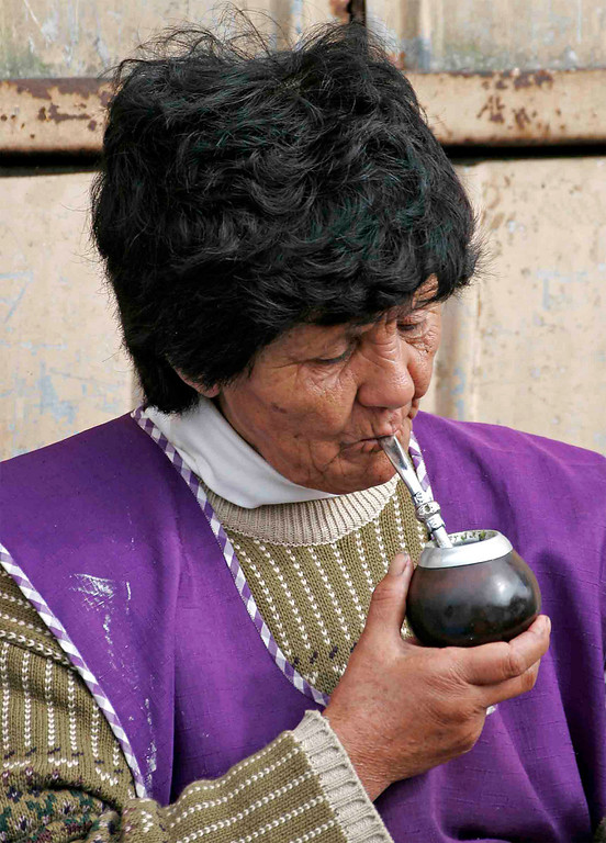 Enjoying mate in Chiloe Island.