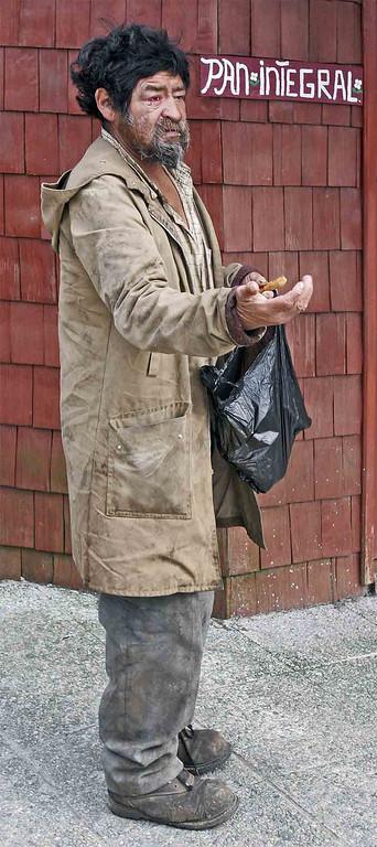 Beggar in Chiloe Island.
