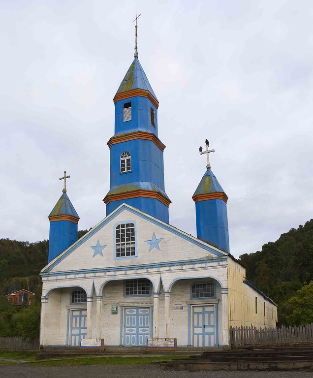 Church in Chiloe Island.