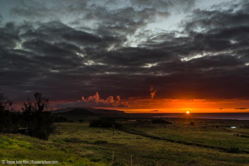Sunrise at Easter Island