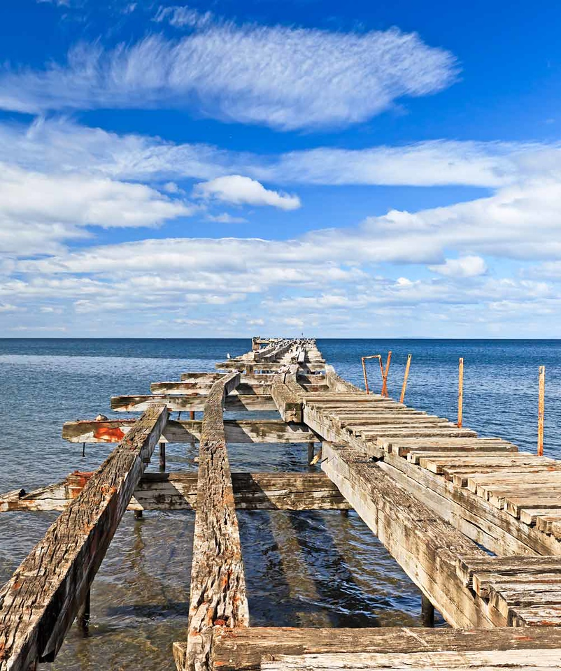 Abandoned pier in Punta Arenas, Chile