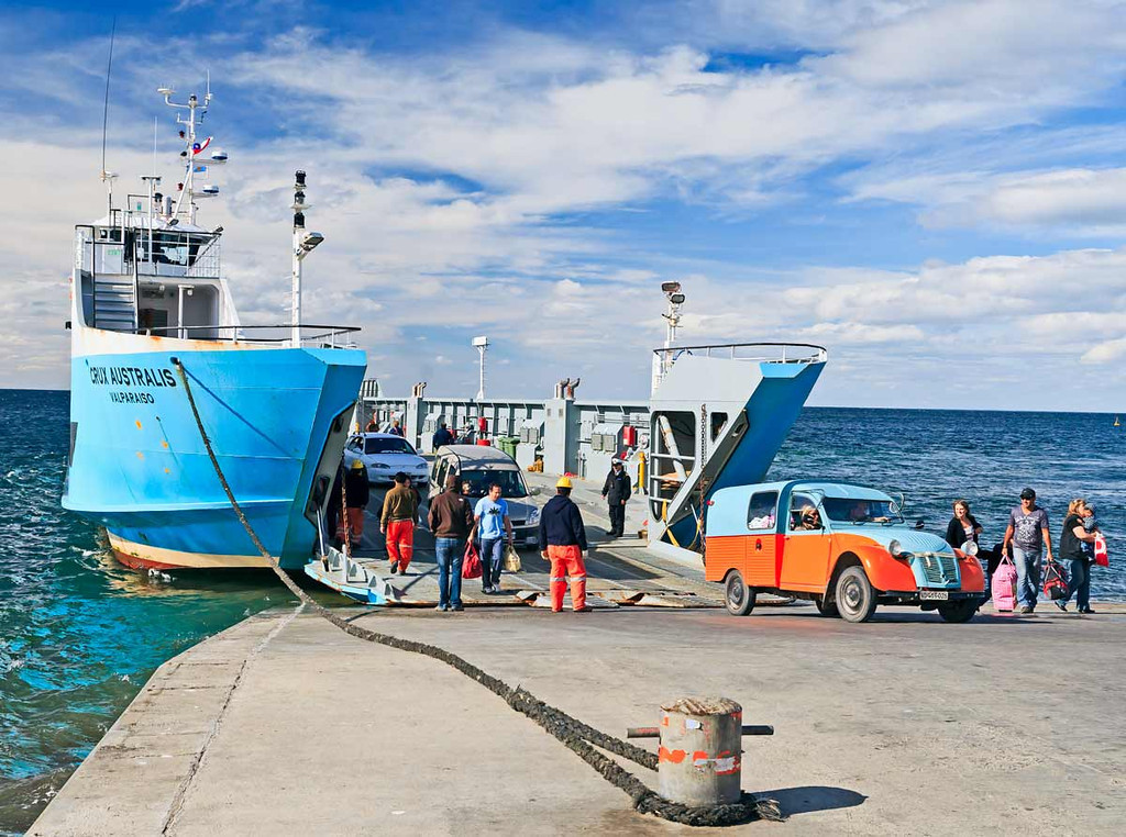 Ferryboat to Isla de Magdalena,  Punta Arenas, Chile