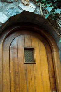 pablo neruda's residence in santiago - door to the guest bedroom