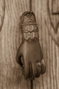 pablo neruda's residence in santiago - door knocker
