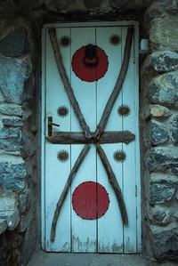 pablo neruda's residence in santiago - doorway