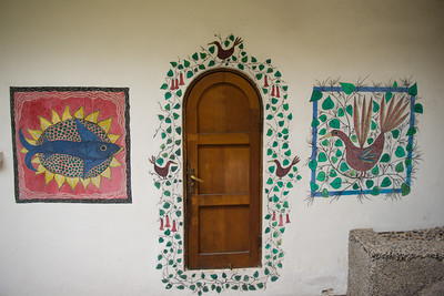 pablo neruda's residence in santiago - door from the garden