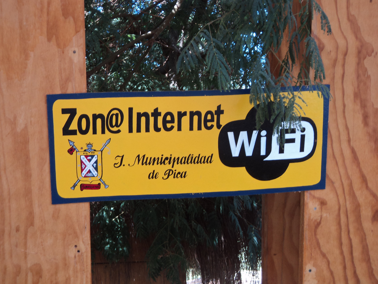 pica wifi zone sign