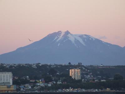 Volcan Calbuco behind Puerto Montt