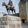 Statue of Julio A. Roca and Centro Civico, Plaza Expedicionarios al Desierto, Bariloche, Argentina