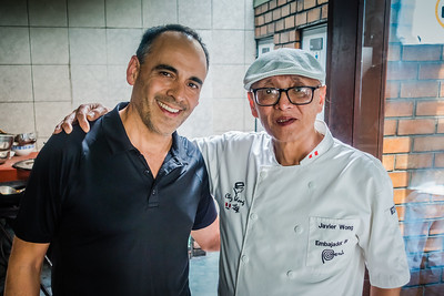 Mike with Chef Javier Wong