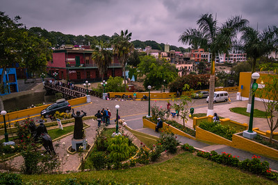 A View of the Busy and Beautiful Barranco