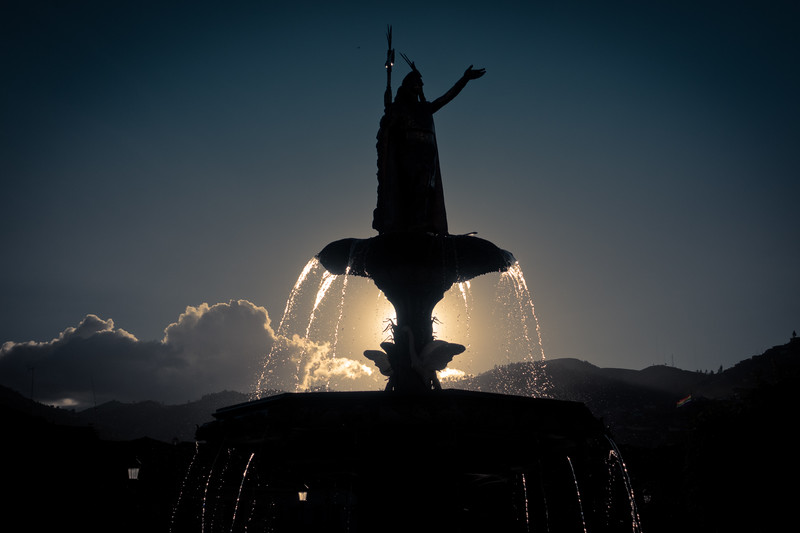 Fountain in Cusco's Main Square