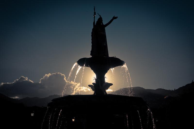 Fountain in Cusco's Main Square