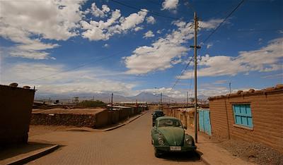 De straatjes van San Pedro de Atacama. Desierto de Atacama, Chili.