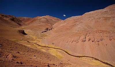 Las Corrales. Paso de Agua Negra, Chili.