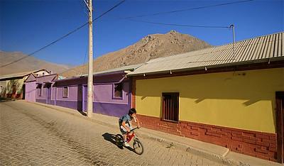 De kleurrijke straatjes van Hurtado. Hurtado, Chili.