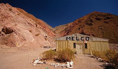 Campamento Melco. Paso de Agua Negra, Chili.
