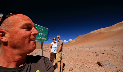 Jeep Tours La Serena met Daniel. El Limite (4.780m). Paso de Agua Negra, Chili.