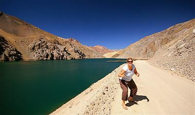 La Laguna. Paso de Agua Negra, Chili.