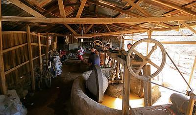Trapiches El Salitre (goudmijnen). Andocollo, Chili.